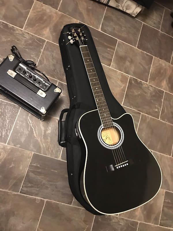 Fine Esteban Acoustic Guitar Case. Musical Instruments & Gear Acoustic Electric Guitars