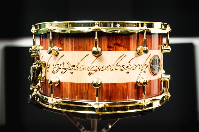 HHG Drums Lord Of The Rings Cedar/Maple Stave Snare, Ultra High Gloss