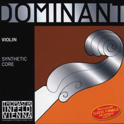 Thomastik-Infeld 130MS 3/4 Dominant Aluminum Wound Carbon Steel Core Loop End 3/4 Violin String - E (Medium)
