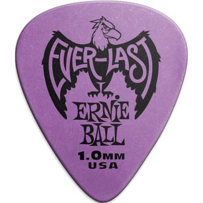 Ernie Ball 9193 Everlast Pick, 1mm, Purple, 12 Pack for sale
