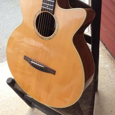 Brad Nickerson Custom acoustic/electric baritone guitar 1995 natural