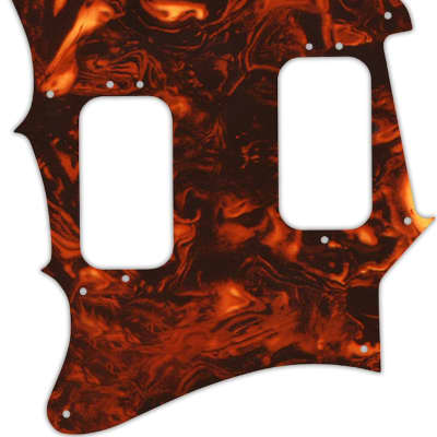 WD Custom Pickguard For Left Hand Fender 2012-2013 Made In Mexico Pawn Shop Super-Sonic #05F Faux To