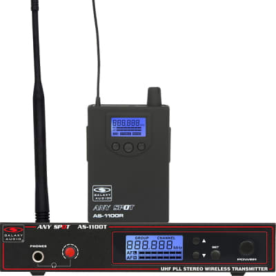 Galaxy Audio AS-1100 Any Spot Wireless In-Ear Monitor System (Freq. D 584-607 MHz)