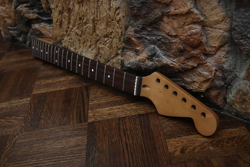 WD Music Stratocaster Neck Aged Relic Nitrocellulose Lacquer Licensed  Fender Birdseye Flamed Maple