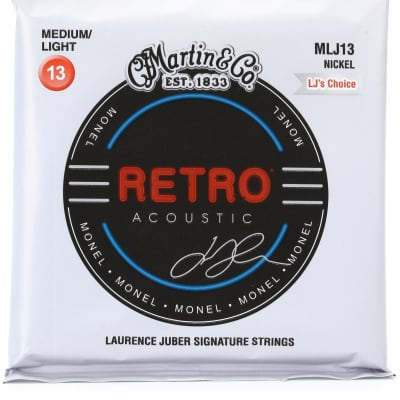 Martin MM13 Laurence Juber Signature Medium Light Acoustic Guitar Strings