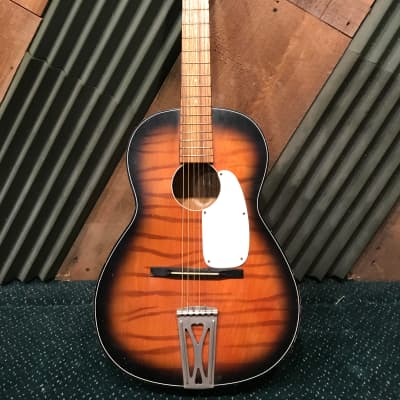 Vintage 1955 Lindell MIJ Acoustic Parlor Guitar 100% All Original Made in Japan for sale