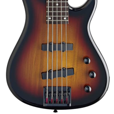 Stagg 5-String European Fusion Electric Bass Guitar - Sunburst for sale