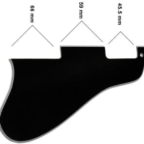 Allparts Black Pickguard for Thinline Hollowbody Guitars for sale
