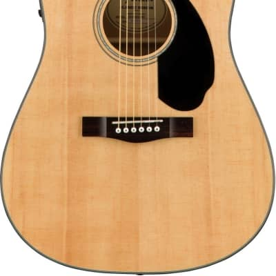 Fender CD-60SCE Natural Acoustic Electric Guitar for sale