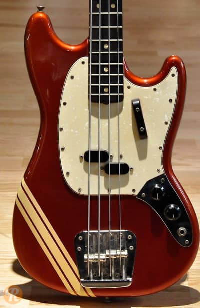 Fender Mustang Bass 1969 Competition Red Price Guide | Reverb