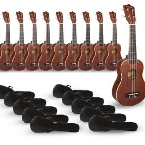 Mitchell MU40 Soprano Ukulele Classroom 10-Pack for sale