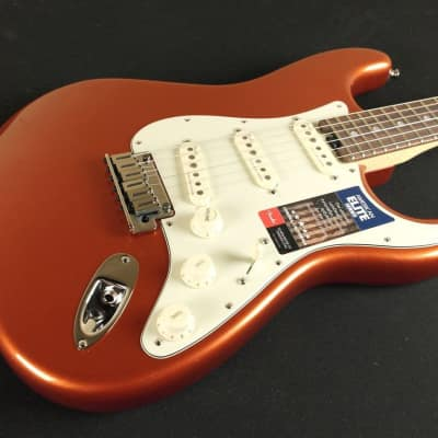 Fender American Elite Stratocaster Rosewood Fingerboard - Autumn Blaze Metallic - 0114000796 (800) for sale