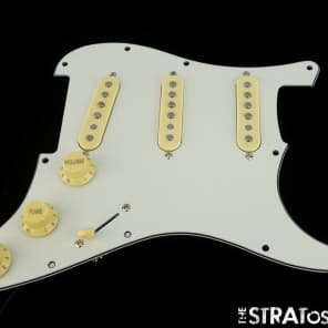 * NEW Alnico 5 LOADED PICKGUARD for Fender Stratocaster Strat Parchment 3 Ply 11
