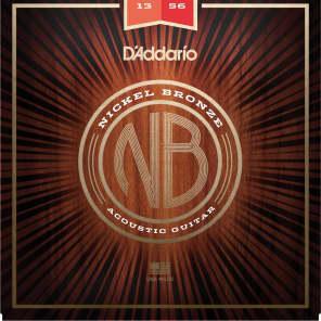 D'Addario NB1356 Nickel Bronze Acoustic Guitar Strings, Medium Gauge
