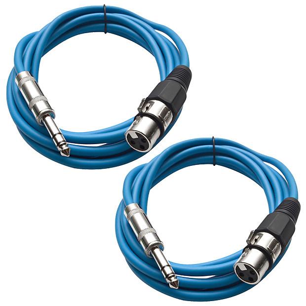 "XLR Female 3/' Patch Cable SEISMIC AUDIO Blue 1//4/"" TRS"