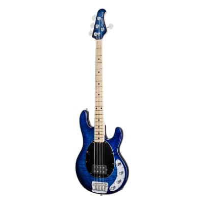 Sterling by Music Man RAY34QM-NBL-M1 StingRay in Quilted Maple Neptune Blue - Used for sale