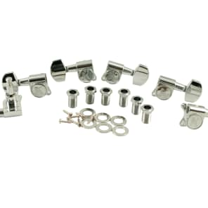 Kluson Chrome 19:1 ratio contemporary diecast tuners 3+3 fits Gibson & Epiphone KCD-3801C
