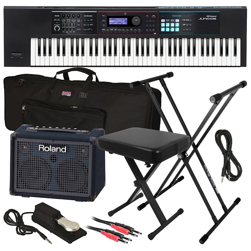 Roland JUNO-DS76 Synthesizer - Complete Stage Bundle