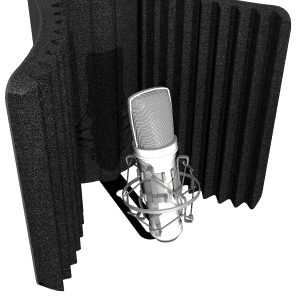 Auralex MudGuard II Microphone Isolation Shield with Mounting Kit