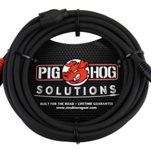 Pig Hog PB-S3R10 3.5mm TRS to Dual RCA Stereo Breakout Cable - 10'