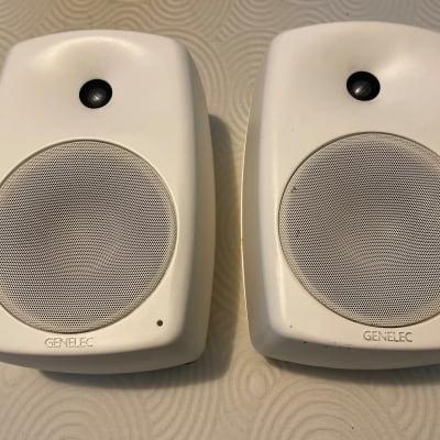 "Genelec 8050A 8"" Powered Nearfield Studio Monitor (pair) ""rare white"""