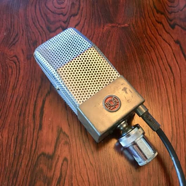 RCA 74b junior velocity ribbon microphone vintage ribbon mic usa image