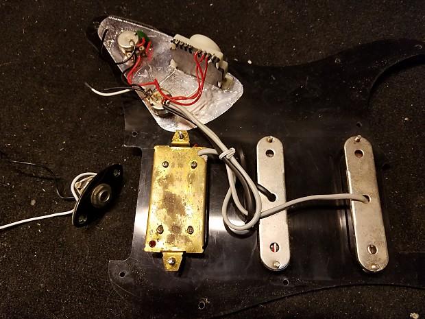 yamaha eg112 c2 pickups wiring harness and pickguard for reverb. Black Bedroom Furniture Sets. Home Design Ideas