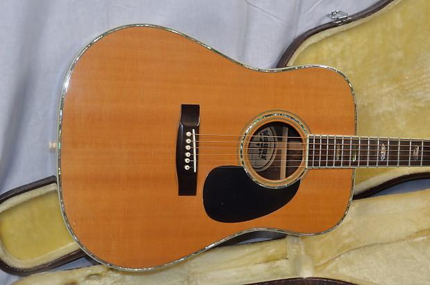 washburn w 600 usa made vintage acoustic guitar with hard reverb. Black Bedroom Furniture Sets. Home Design Ideas