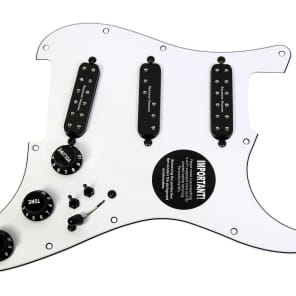 920D Custom Shop 24-11-13-2T-B Seymour Duncan Everything Axe Loaded Strat Pickguard w/ 2 Toggles