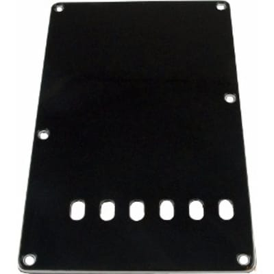 HOSCO P-105B Back Cover with holes for Stratocaster Guitars, Black for sale