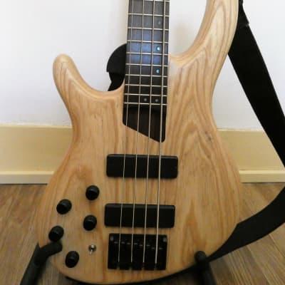 Cort B4 Plus AS OPN Artisan Series Swamp Ash 4-String Bass left 2017 Natural