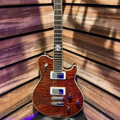 Peavey Jack Daniel's EXP Single-Cutaway Electric Guitar, 22 Jumbo Frets, Rock Maple Neck, Basswood B for sale