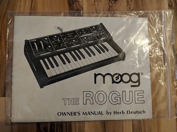 Moog Rogue Manual by Herb Deutsch - original printing