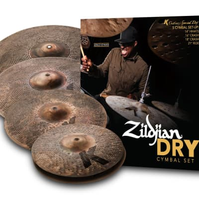 Zildjian K Custom Special Dry Cymbal Pack 14/16/18/21 - KCSP4681 - 642388321973