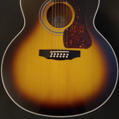 Guild USA JF30-12 2000s Sunburst Nitro JF-30 12 String Acoustic Guitar w/OHSC and Hangtag Corona CA for sale