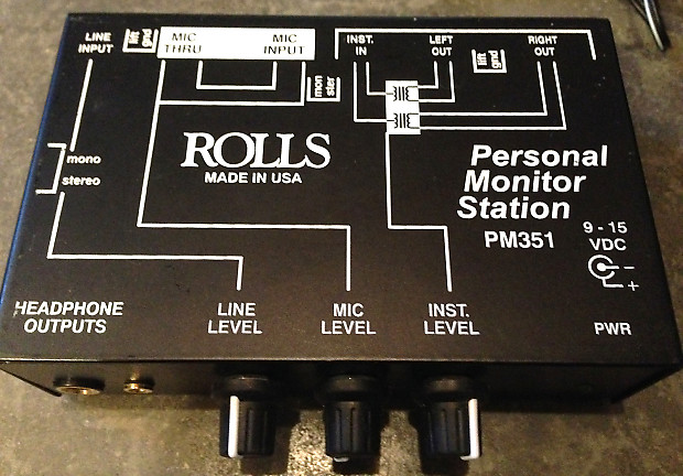 Rolls Pm 351 Personal Monitor Mixer Monitor Mix You