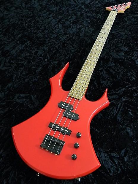 BC RICH Vintage 1989 Virgin Bass Guitar Platinum Series Ferrari Red Maple  Neck
