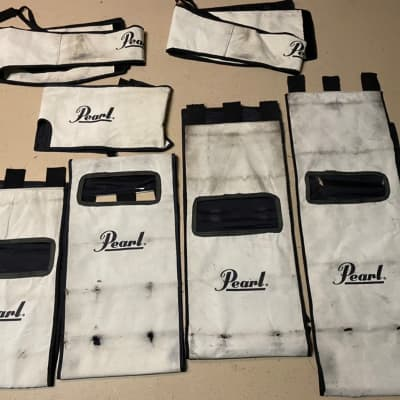 Pearl Marching drum covers White