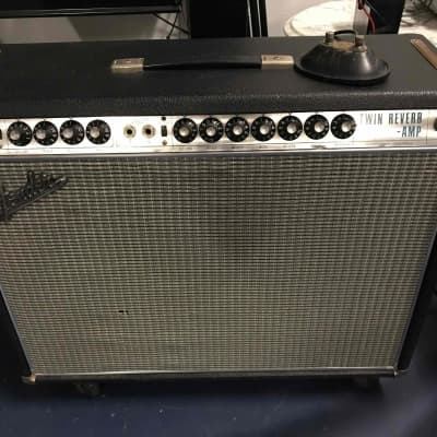 "1968 Fender Twin Reverb Silverface 15"" Blackface circuit super healthy JBL"