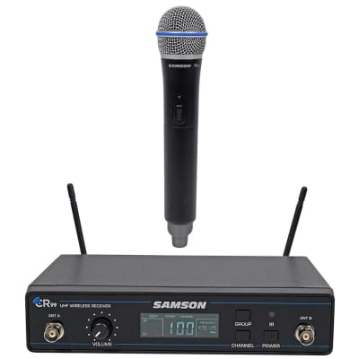 Samson Concert 99 Frequency-Agile UHF Wireless Handheld Mic System - K Band (470–494 MHz)