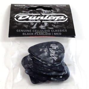 Dunlop 483P02MD Celluloid Standard Classics Medium Guitar Picks (12-Pack)