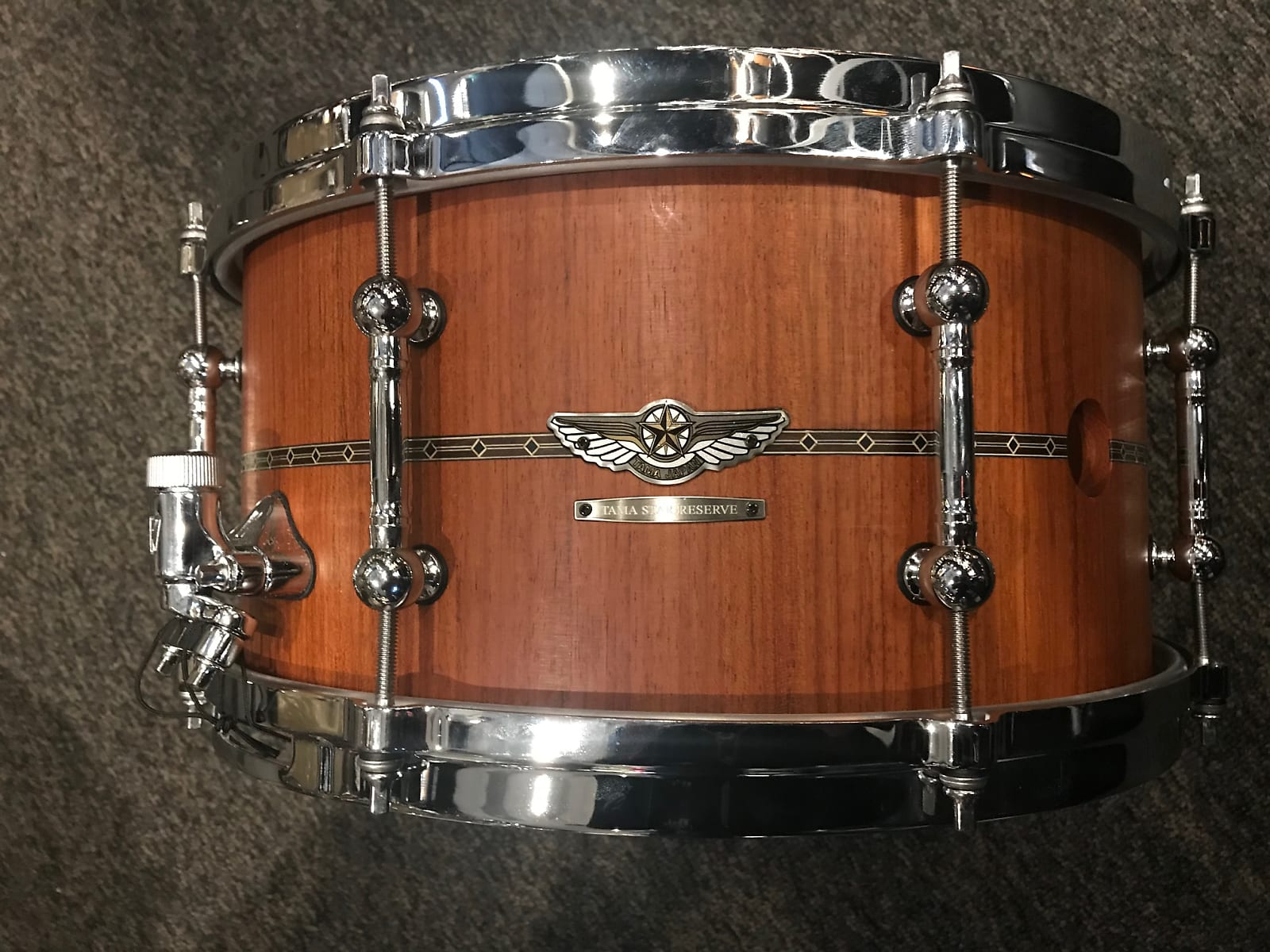 "5 14/"" x 7/"" Stave Jatoba heavily limited snare TAMA STAR Reserve Snare Drum Vol"