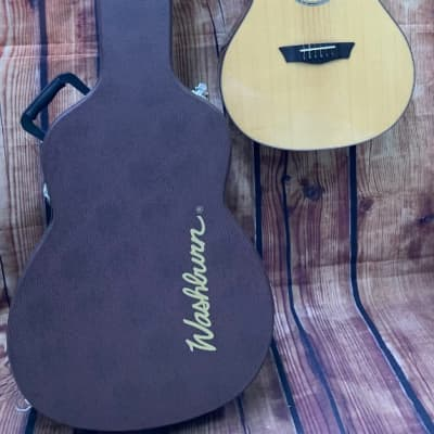 Washburn Woodline WLO100SWEK Acoustic Electric Solid Wood Guitar w Case - DMG