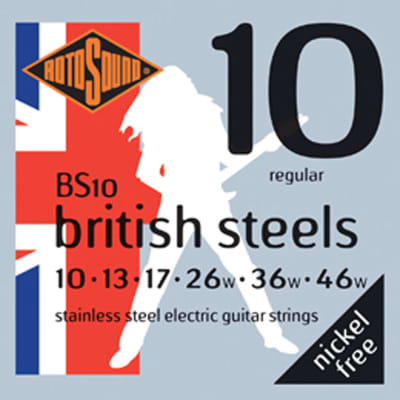 Rotosound British Steels Electric Set - 10's