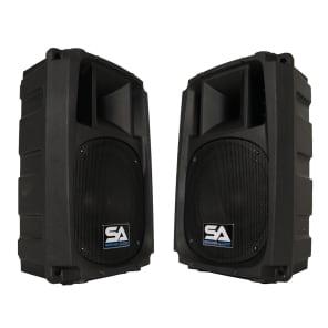 """Seismic Audio S_Wave-8-Pair Passive 1x8"""" 150w 2-Way Speaker Cab (Pair)"""