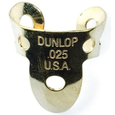 Dunlop 37R025 Brass .025mm Fingerpicks (20-Pack)