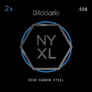 D'Addario NYXL 2-Pack Plain Steel Guitar Strings .008