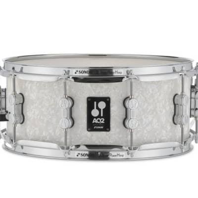 Sonor AQ2 14x6 Maple Snare White Pearl