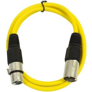 Seismic Audio SAXLX-2 XLR Male to XLR Female Patch Cable - 2'