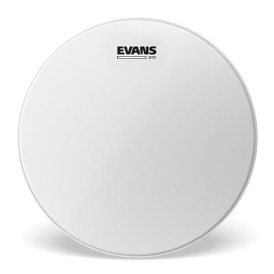 "Evans B06G12 G12 Coated White Drum Head - 6"""